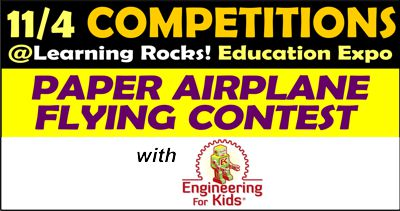 Paper Airplane Competition presented by Engineering for Kids