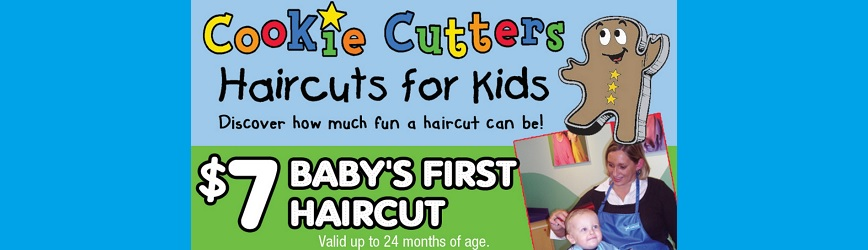 ONLY $7 for Baby's First Haircut at Cookie Cutters!