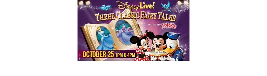 Buy Your Tickets Now for Disney Live! Three Classic Fairy Tales!
