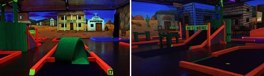 Bring Your Family to Miner 49'er Black Light Mini Golf!