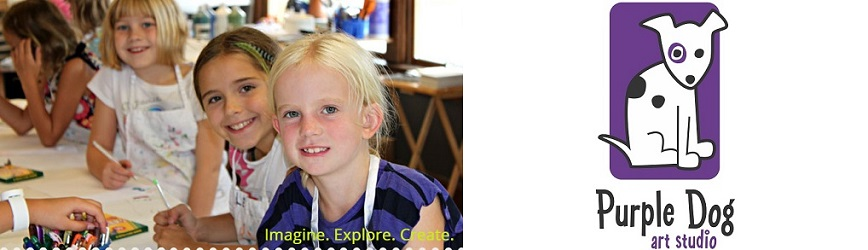Create & Celebrate with with Your Little Artist at Purple Dog Art Studio!