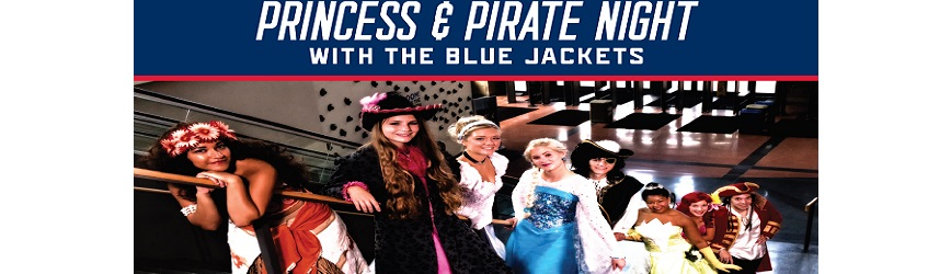 This Saturday Bring Your Family to Princess & Pirate Night with the Columbus Blue Jackets!