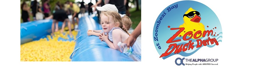 Adopt a Duck (or a Whole Flock) at Zoom Duck Derby benefiting The Alpha Group!