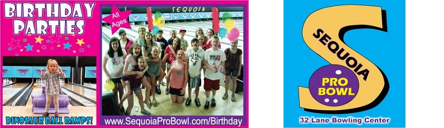 Sequoia Pro Bowl is the Perfect Place for Your Child's Next Birthday Party!