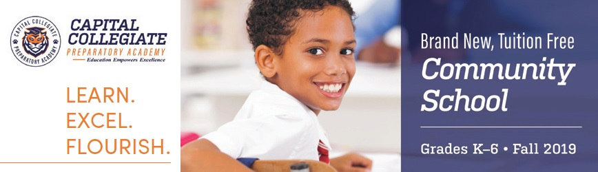 Brand New, Tuition-FREE Capital Collegiate Preparatory Academy is Now Enrolling!