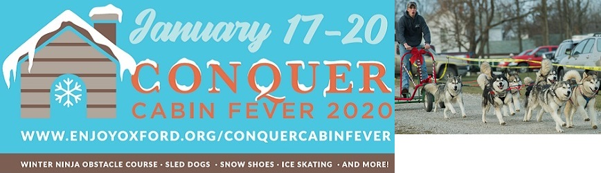 Enjoy Oxford Invites Your Family to Enjoy Conquer Cabin Fever!