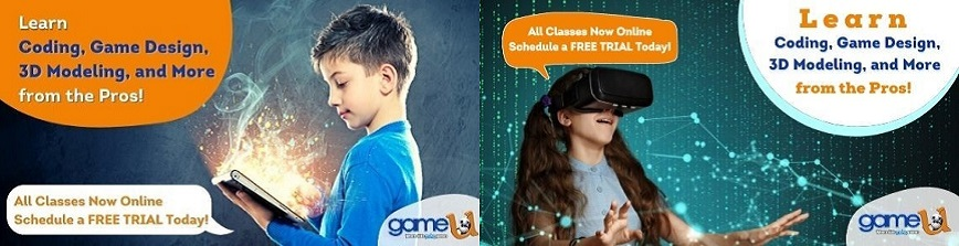Learn to Code from the Pros at Game-U! Sign Up Your Kid!
