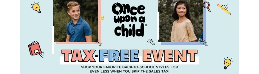 This Weekend Shop at Once Upon A Child During Ohio's Tax-Free Holiday!