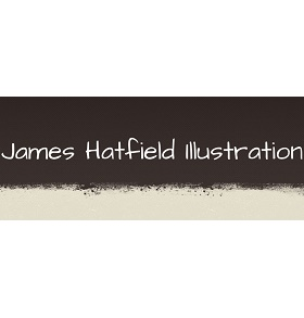 James Hatfield Illustration Logo