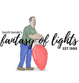 Butch Bando's Fantasy of Lights Logo