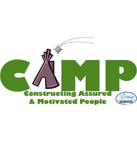 Constructing Assured & Motivated People (CAMP) Logo