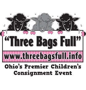 Three Bags Full Children's Consignment Events LLC Logo