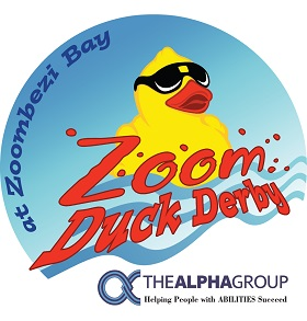 Zoom Duck Derby benefiting The Alpha Group Logo