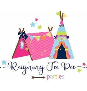 Reigning Tee Pee Parties Logo